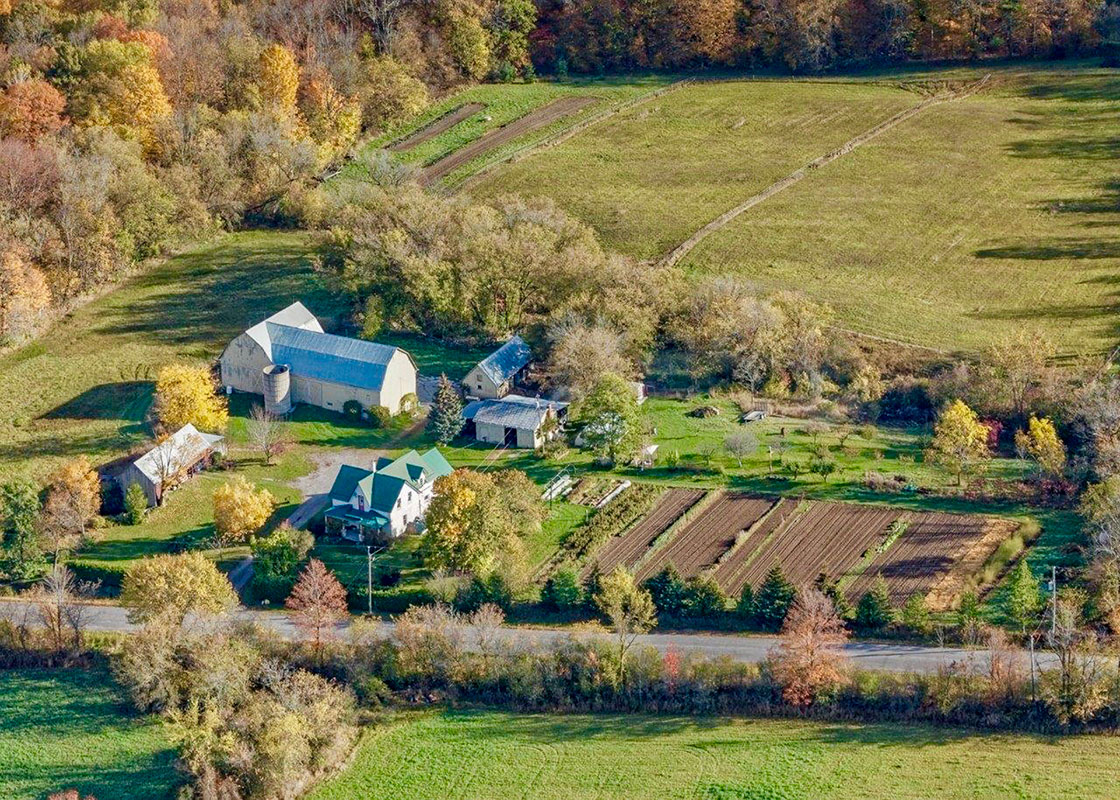 Aerial photo of Art Farm